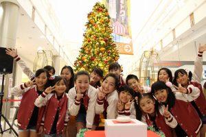 イオンモール熊本 クリスマスツリー点灯式